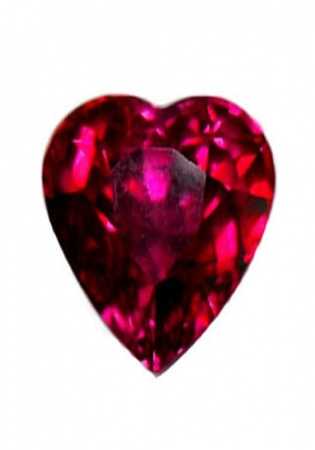 Heart ruby lfg 1,53 carat 6.79 x 5.69 x 4.94 mm mozambique