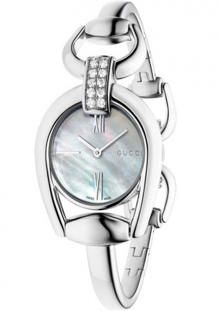 Horsebit ss diamond set bangle ladies watch ya139504