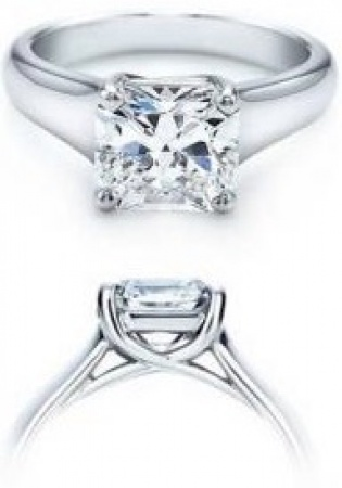 14k white gold real princess diamond 0.82 carat engagement ring