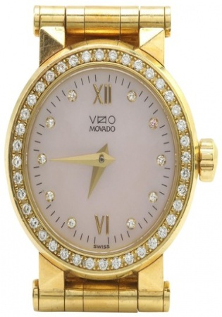 Yellow gold 18k .25ctw vs1 diamonds ladies watch