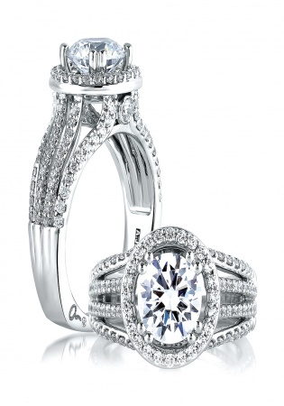 A. jaffe metropolitan 14k white gold diamond engagement ring setting