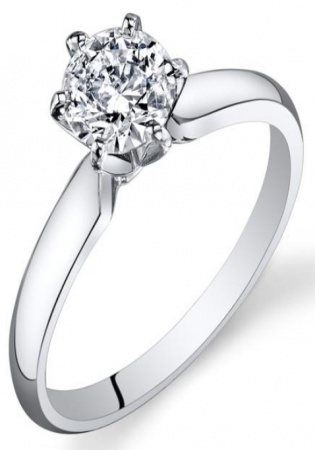 3/4 ct tw diamond 14k polished white gold engagement ring with igi certification
