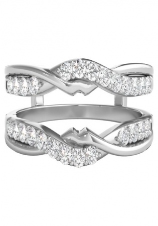 Helzberg 1/2 ct. tw. diamond ring enhancer in 14k white gold