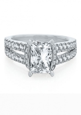Helzberg artiste by scott kay 1/2 ct. tw. diamond semi-mount engagement ring in 14k white gold