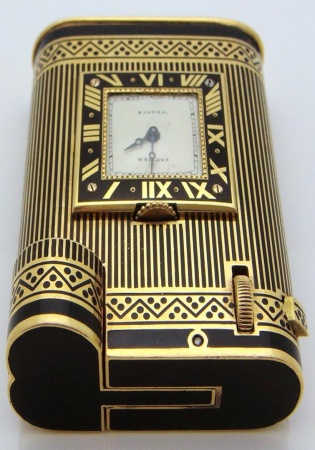 Collection 18k gold cartier watch & lighter