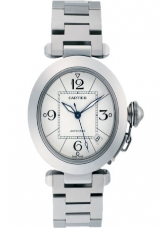Cartier pasha c medium stainless steel automatic bracelet watch