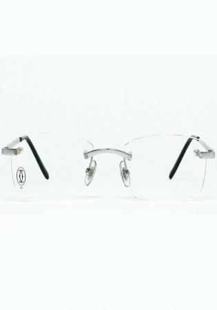 Eyeglasses cartier t8100574 rimless titanium frame santos