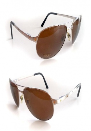 Cartier santos dumont sunglasses polariz aviator 61mm