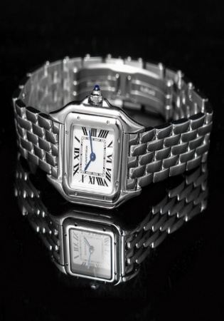Cartier panthère de silver dial ladies watch