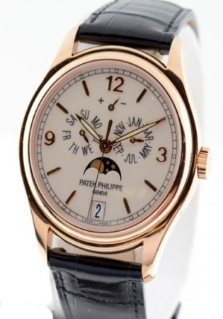 Patek philippe annual calendar moonphase 5146r 18k rose gent's