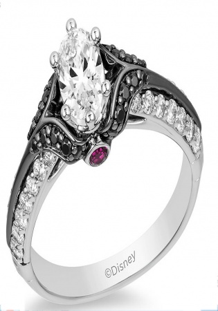 1 ct. t.w. oval diamond engagement ring in 14k white gold