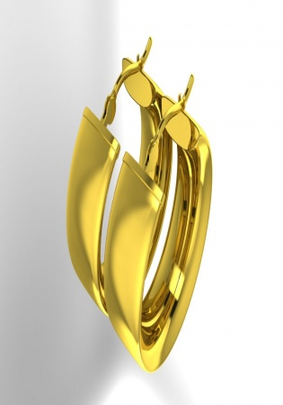 Zales 14k yellow gold 7mm hoop earrings