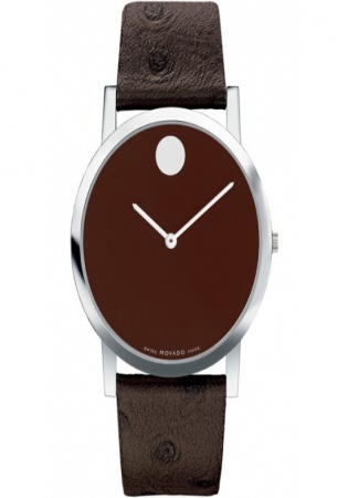 Movado museum brown tone swiss quartz watch 84 g1 1852 gent