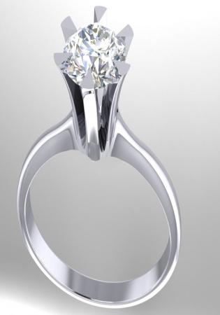 Pt900 fine round diamonds set royal crown six-prongs solitaire vitntage-style ring