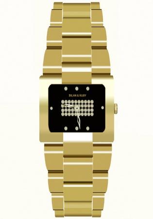 Milan ruby limited edition 4444 all gp 5.0micron bracelet quartz watch switzerland