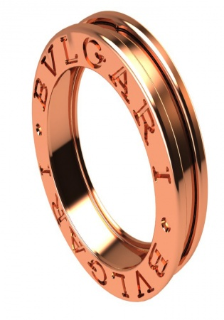 B.zero1 one-band ring in 18 kt rose gold bvlgari