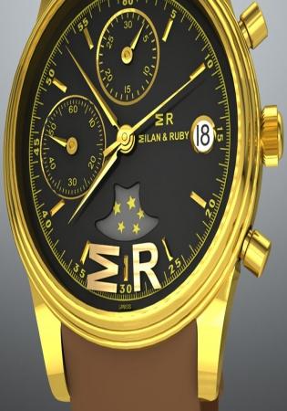 L'orologio a carica automatica milan & ruby 32/111 con cassa in oro 18k da 38,5 mm