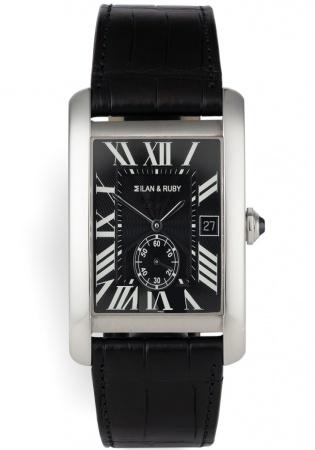 Milan & ruby rumania mr2010 stainless steel quartz men's watch