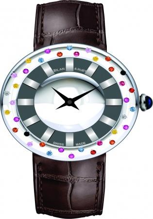 Milan & ruby the space 1 diamond quartz men's watch