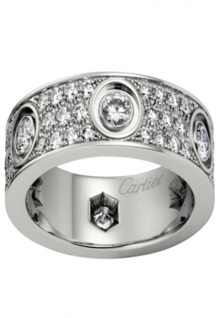 Cartier love ring diamond paved
