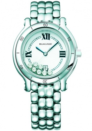 Milan ruby happy watch mr2015 quartz white ceramic