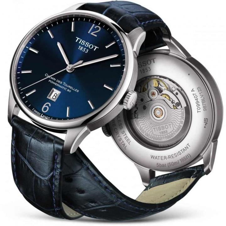 Tissot men's chemin des tourelles powermatic 80 watch H1