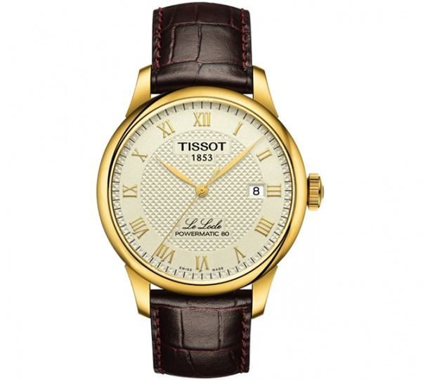 Tissot le locle powermatic 80 automatic champagne dial men's watch H0