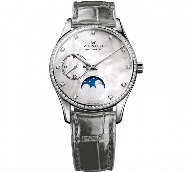 Zenith elite ultra thin moonphase automatic ladies watch H0