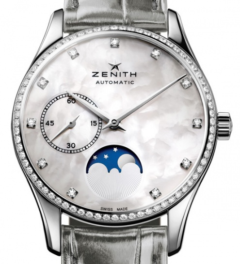 Zenith elite ultra thin moonphase automatic ladies watch H1