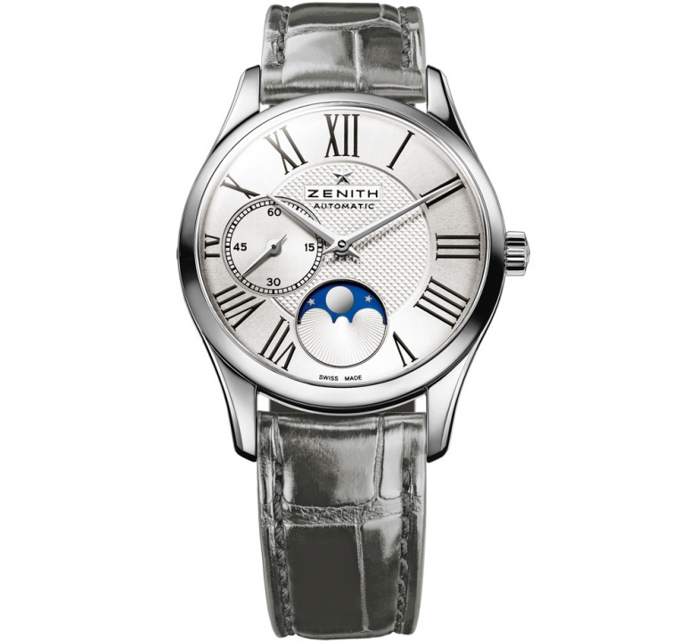 Zenith elite ultra thin moonphase automatic stainless steel women' watch H0