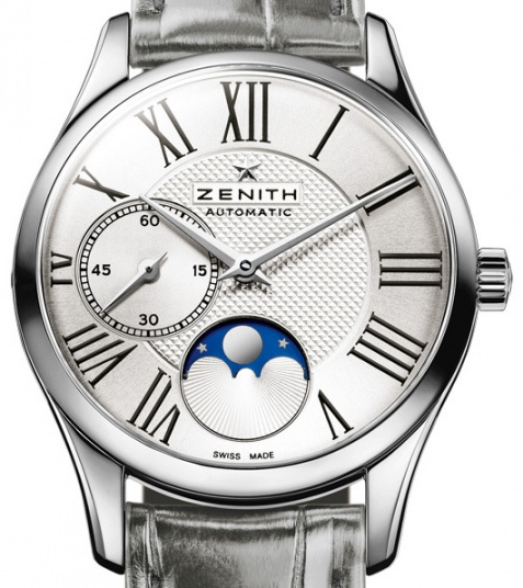 Zenith elite ultra thin moonphase automatic stainless steel women' watch H1