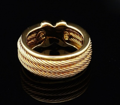 Vintage philippe charriol ring diamonds 18k solid gold H2