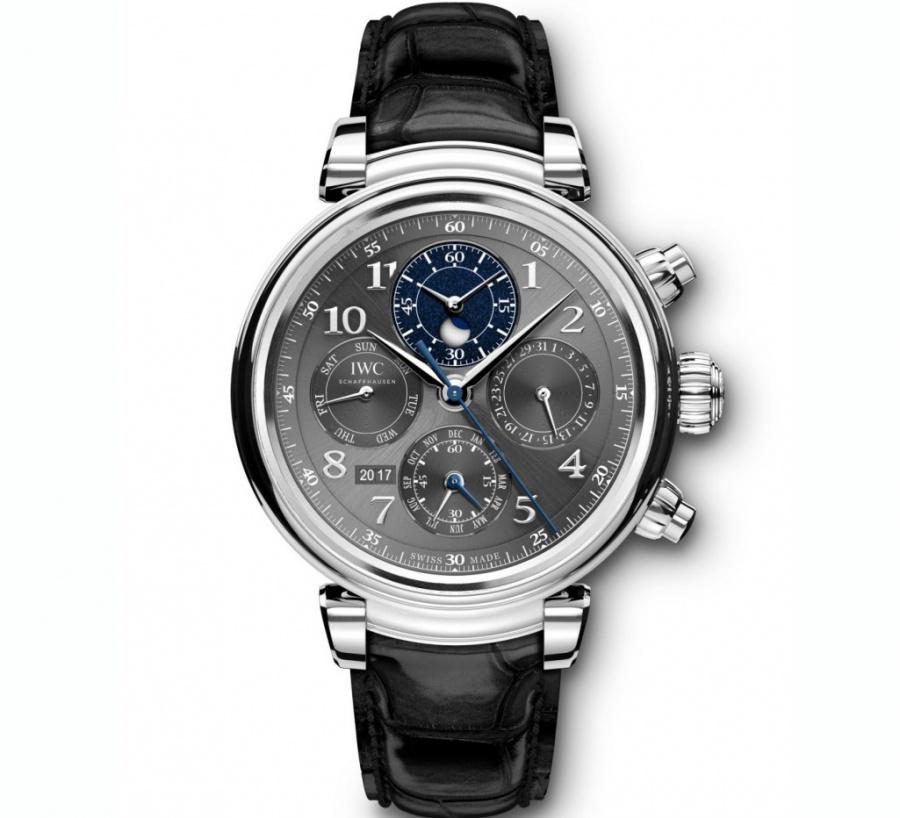 Iwc da vinci perpetual calendar chronograph stainless steel automatic watch H0