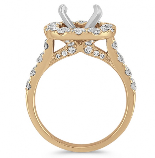 Shane co halo diamond engagement 14k yellow gold ring for women H2