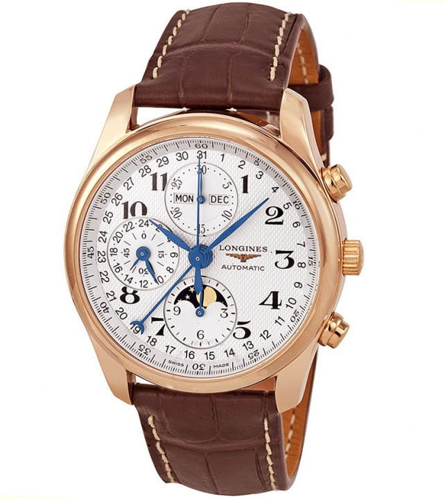 Longines master collection 18k r gold chronograph men's watch l2.673.8.783longines master collection 18k r gold chronograph men's watch l2.673.8.78 H0