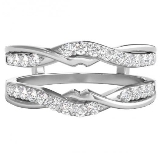 Helzberg 1/2 ct. tw. diamond ring enhancer in 14k white gold H0