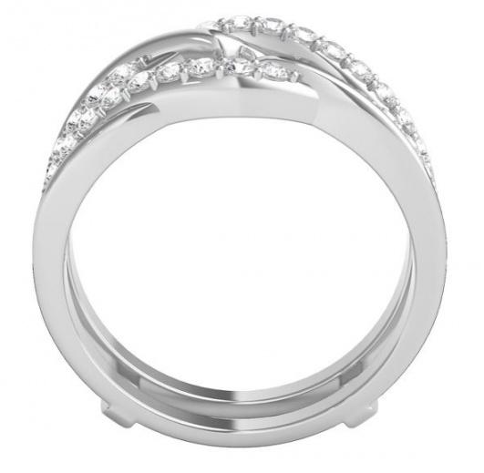 Helzberg 1/2 ct. tw. diamond ring enhancer in 14k white gold H1