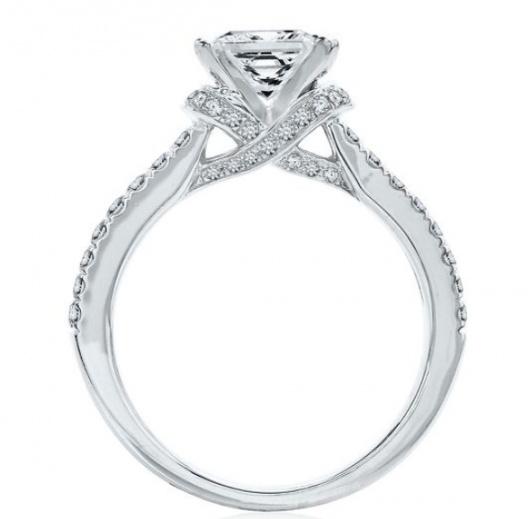 Helzberg artiste by scott kay 1/2 ct. tw. diamond semi-mount engagement ring in 14k white gold H0