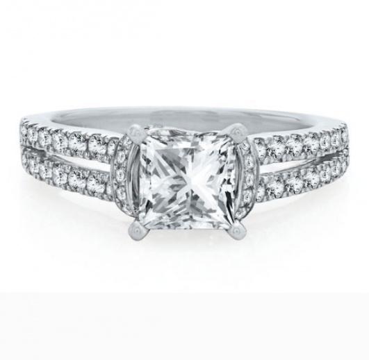 Helzberg artiste by scott kay 1/2 ct. tw. diamond semi-mount engagement ring in 14k white gold H1