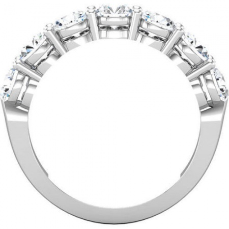 14k white gold natural diamond wedding ring band 2.00 ct round white gold 7 stone anniversary H1