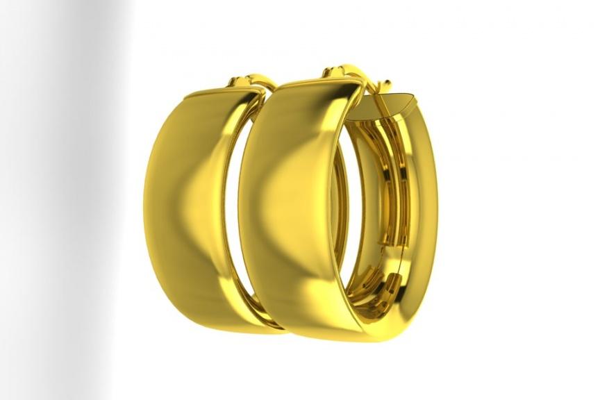Zales 14k yellow gold 7mm hoop earrings H0