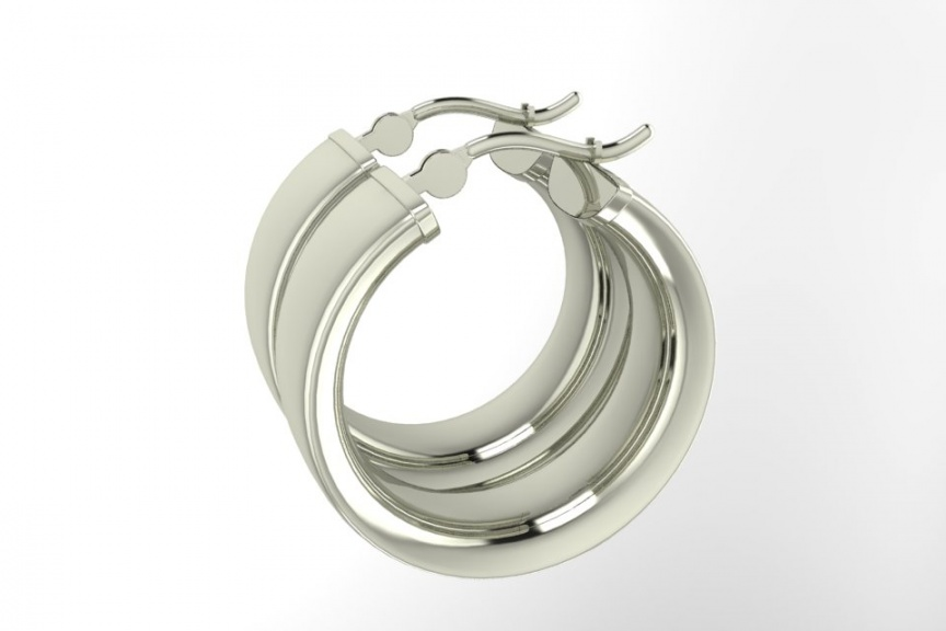 Zales 14k white gold 7mm hoop earrings H0