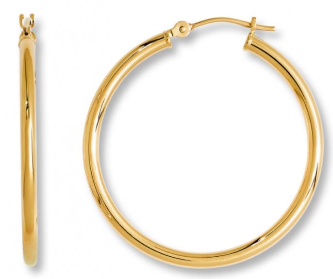 Jared hoop earrings 14k yellow gold H0