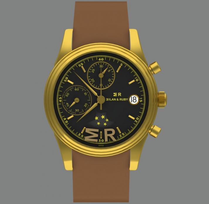 L'orologio a carica automatica milan & ruby 32/111 con cassa in oro 18k da 38,5 mm H0