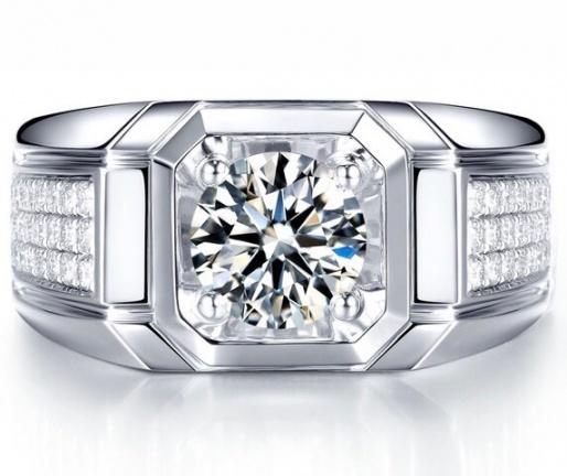 Milan & ruby pinky luxury band 14k diamond men' ring mrj handmade 1168940 H0